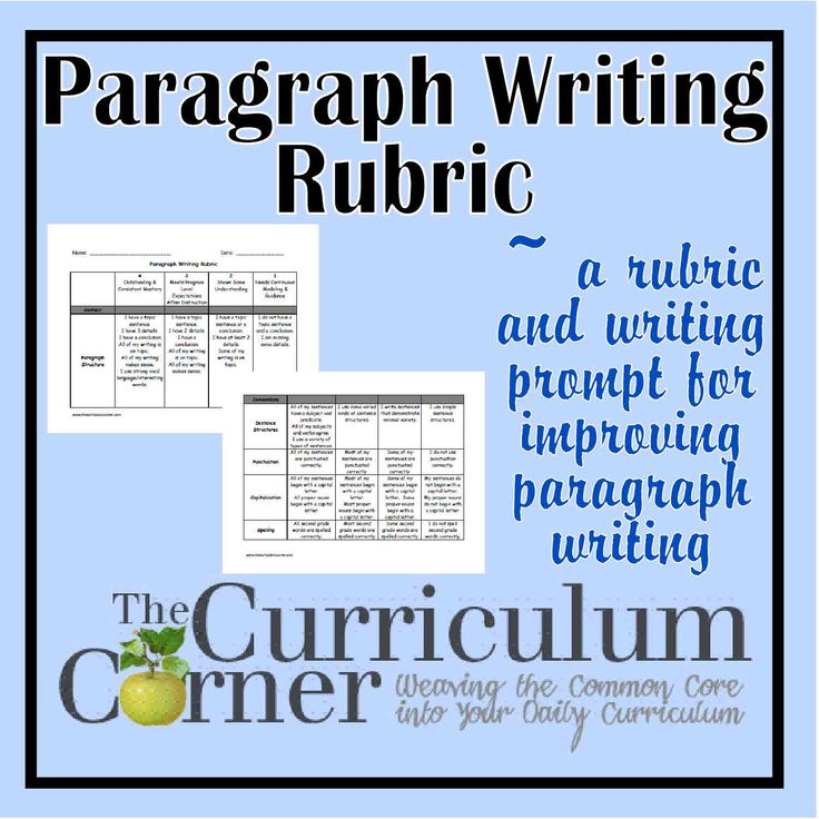 writing a good paragraph lesson plan