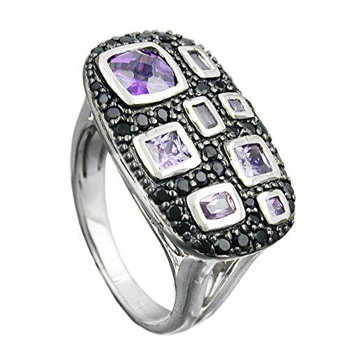 Dreambase Ring, Zirkonias lila-schwarz, Silber 925 Dreambase https://www.amazon.de/dp/B00L5A04U0/?m=A37R2BYHN7XPNV