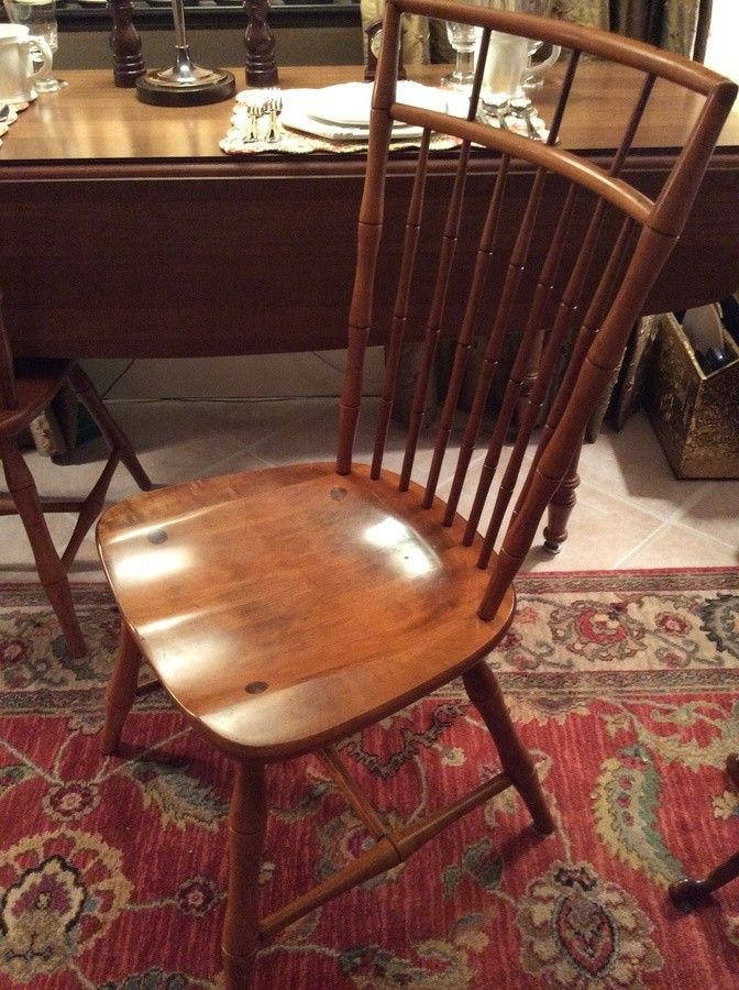 Ethan Allen Birdcage Back Faux Bamboo Dining Chairs Bamboo