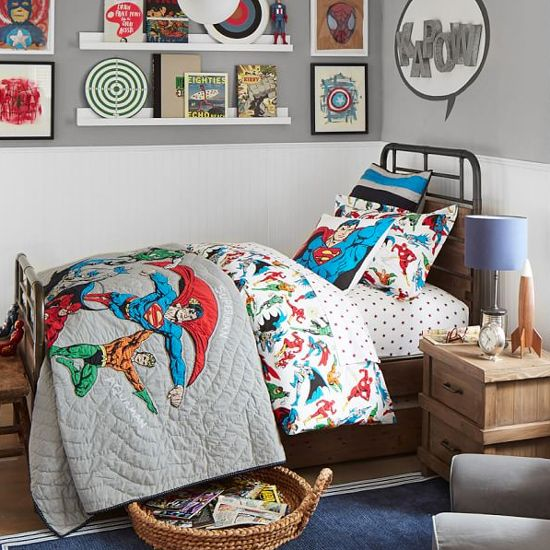 Give your comic-loving child's bedroom Ka-Pow factor with these marvel bedroom ideas fit for a superhero