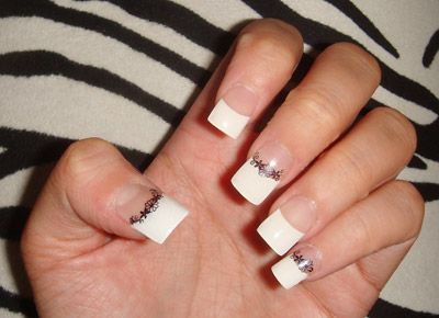 The 25 best konad stamping ideas on pinterest lace nail art dont like the length but like the concept of french with a black lace stencil konad stampingfrench nail artgel prinsesfo Images