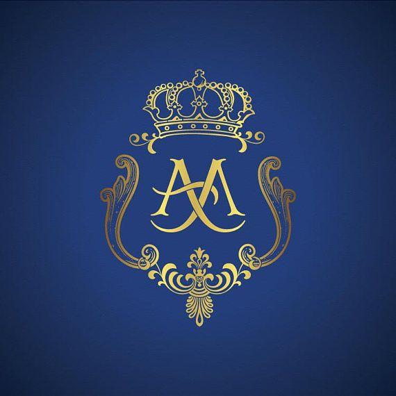 Custom wedding Monogram, diseño de logotipo de boda hecho a medida, diseño de logotipo de Family Crest