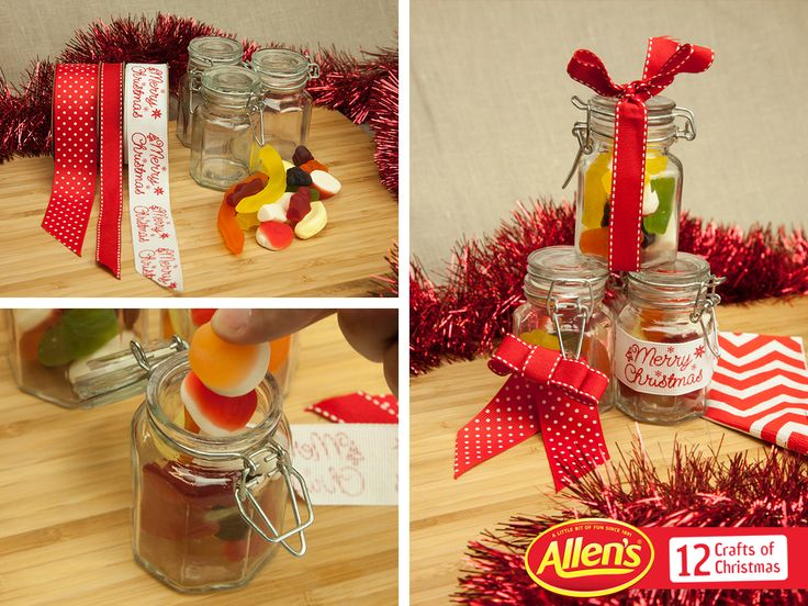 Create ALLEN'S lolly jars as little gifts for the stocking or Christmas table!