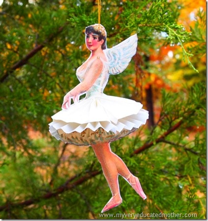 @mvemother Paper Ballerina No Ugly Ornament 2012 Preview: Craft, Mother, Ballerinas, Cabinet, Christmas, Tutorial, Ornaments