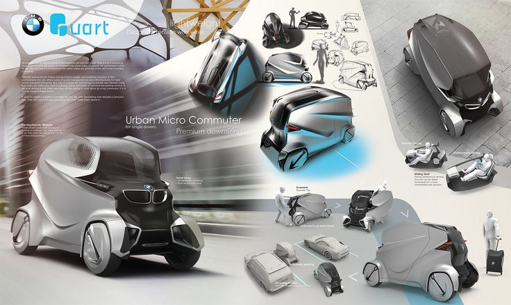 BMW Quart Concept by Yujin Kim - Design Poster - Car Body Design