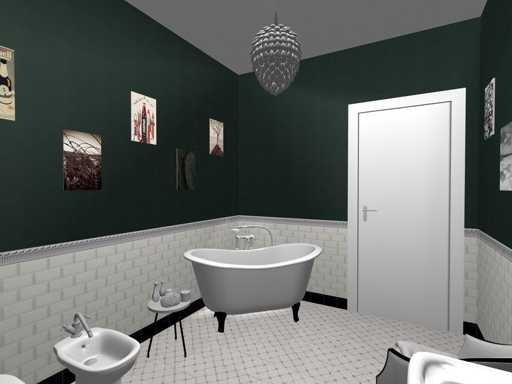 Oltre 20 migliori idee su bagni in piastrelle bianche su - Piastrelle bagno rosse ...