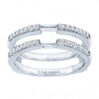 RG137-14K White Gold Diamond Ring Guard from perrysemporium.com #WeddingBand #Bands #AnniversaryBand