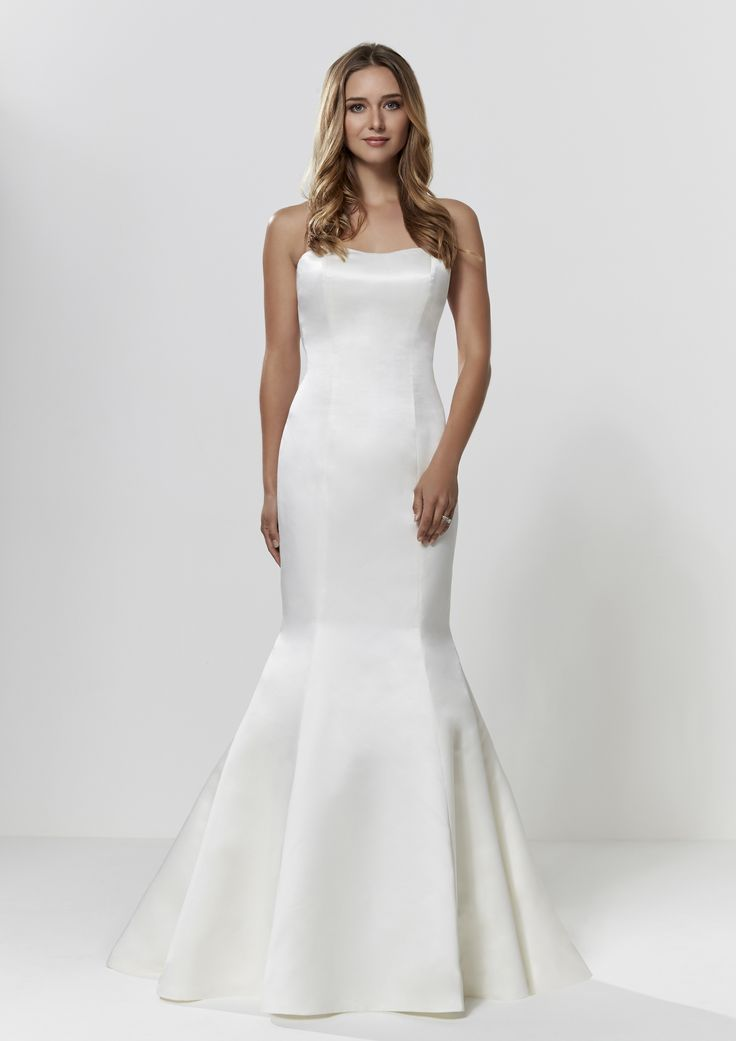 Fishtail Wedding Dress - Check out our Custom Pin Options #CustomWeddingDress