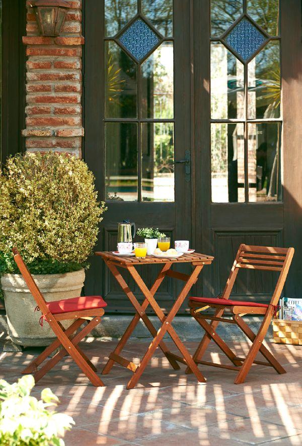 Mira qu sencillo y moderno comedor para la terraza las for Comedor para terraza