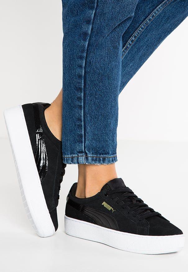 VIKKY PLATFORM - Sneakers laag - black/white | Schoenen ...