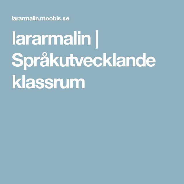 lararmalin | Språkutvecklande klassrum