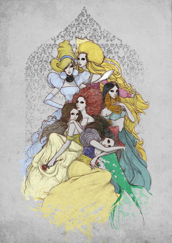 Macabre Disney PrincessesDisneyart, Dark Disney, Dark Eye, Lady Gaga, Disney Princesses, Disney Art, Fans Art, Princesses Fashion, Haute Couture