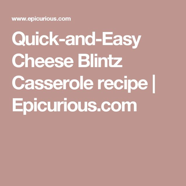 Quick-and-Easy Cheese Blintz Casserole recipe   Epicurious.com