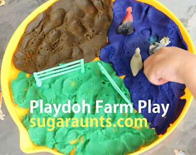 Sugar Aunts: Playdoh Farm: small world play. For more inspiring play ideas: http://pinterest.com/kinderooacademy/imagine-dream-pretend-play/ ≈ ≈