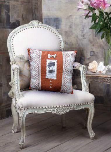 Rétro coussin, coussin décoratif, décoration romantique, oreiller rustique, coussin oreiller deco, velour, dentelle de coton.