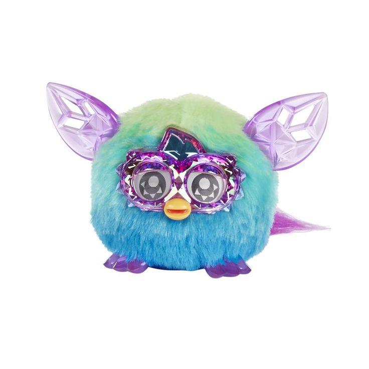 Trendy Green Blue Furby Furbling Crystal Creature Plush Interactive Toy, 6+ Yrs - Furby