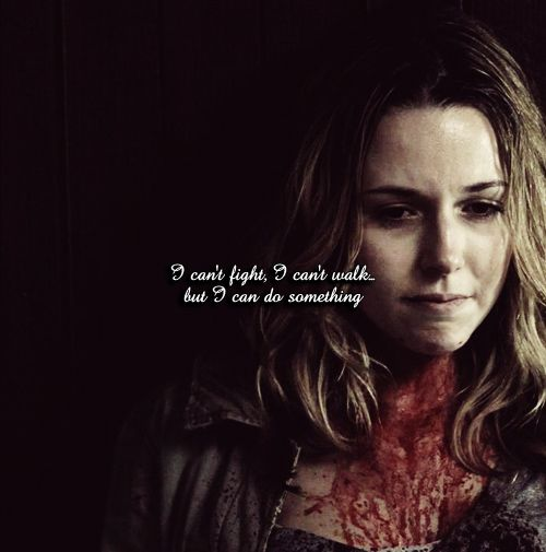"Supernatural 5.10 ""Abandon All Hope"" - Every time I watch this episode, I cry buckets! ...How I miss Ellen and Jo Harvelle. ♥ Much respect for Jo who never stopped fighting."