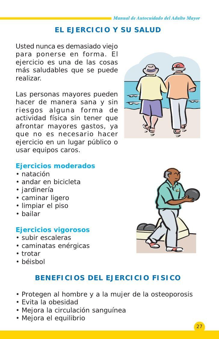 Consejos y recomendaciones para mantener y mejorar la salud en las personas adultas mayores