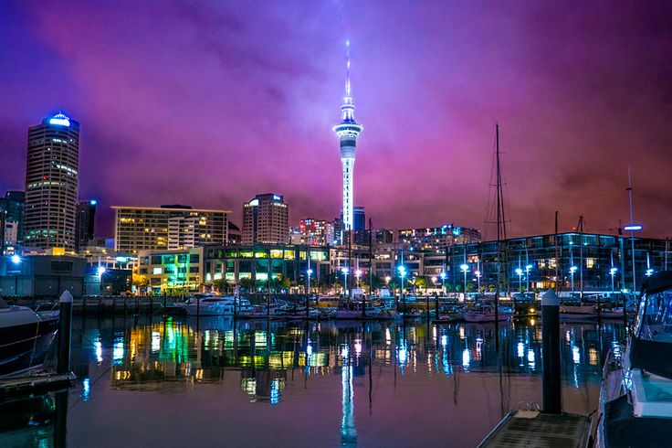 Auckland's stunning Sky Tower forms part of the central hub of the city