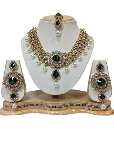 Indian Bollywood Style CZ Green Stones Pearls Kundan Part... https://www.amazon.com/dp/B01KC5JNY6/ref=cm_sw_r_pi_dp_x_kXKZybZC75NFZ