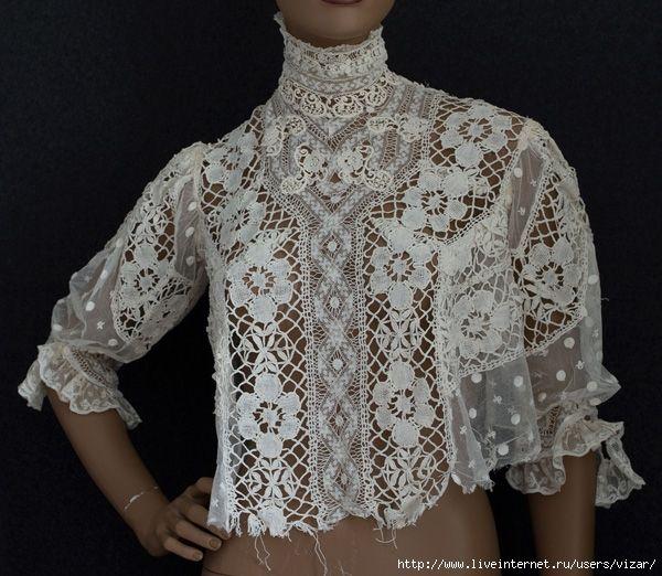 Блузка из разных кружев, c.1905. Обсуждение на LiveInternet - Российский Сервис Онлайн-Дневников