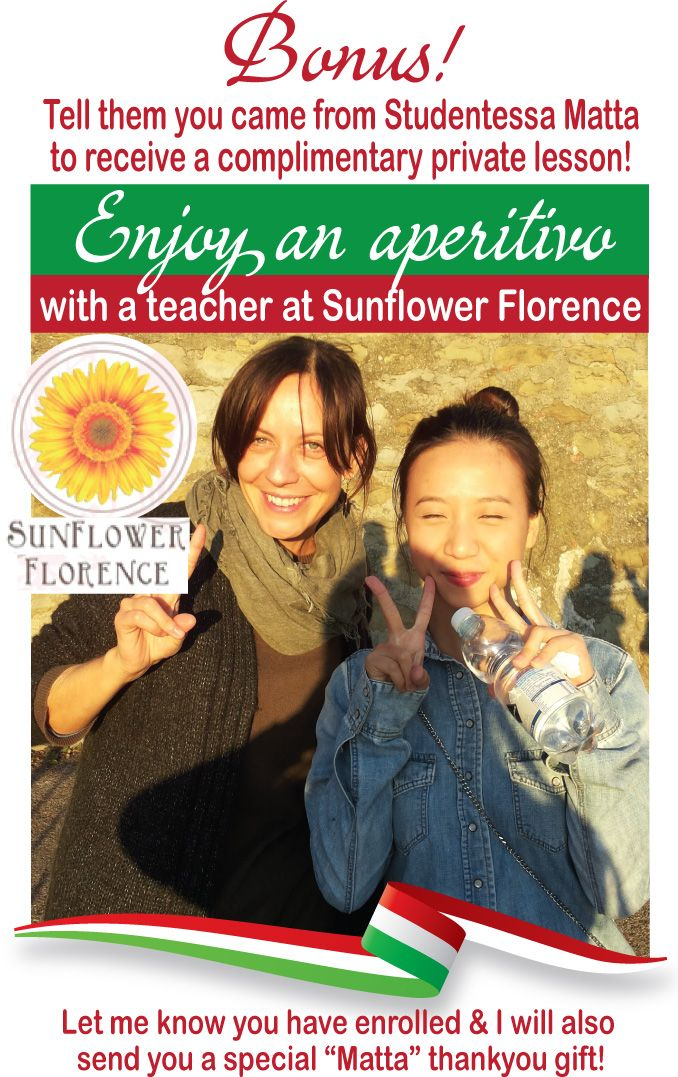 Florence - Sunflower Italian Culture Through Language - Studentessa mattaStudentessa matta