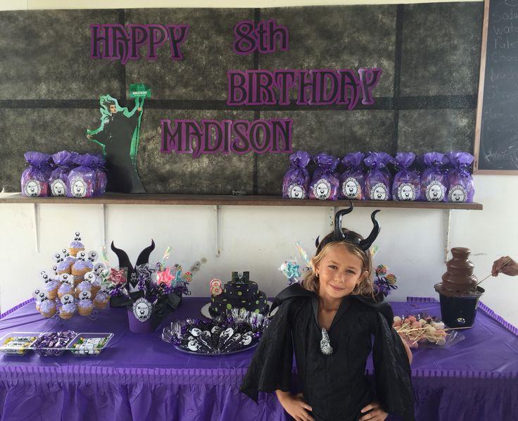 Malificent theme birthday party #malificent