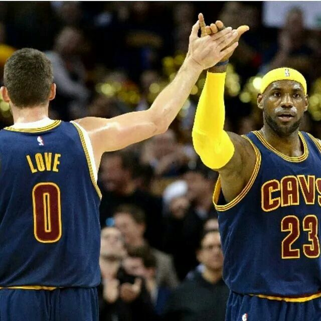 LeBron James With Kevin Love