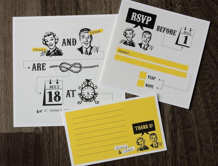 the 25+ best retro wedding invitations ideas on pinterest, Wedding invitations