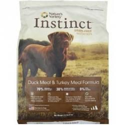 Nature's Variety Instinct Dry Dog Food: This grain-free and gluten-free dog food is just what your dog's been asking for. Nature's Variety Instinct Dog Dry Duck dog food contains 70% pure animal ingredients and nutritious oils and 30% vegetables and fruits fortified with vitamins and chelated minerals. $13.99 - $79.99 #twobostons #naturesvariety