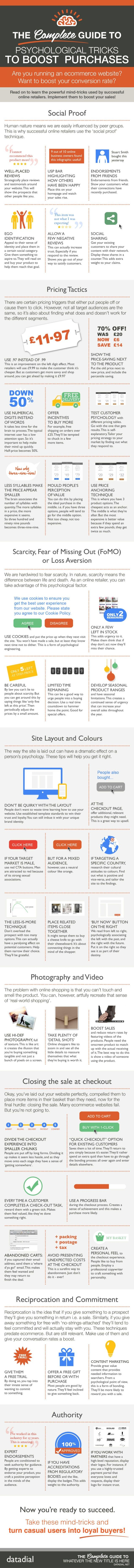 Psychological Strategies to Increase eCommerce Sales [Infographic] AND Take this Free Full Lenght Video Training on HOW to Start an Online Business