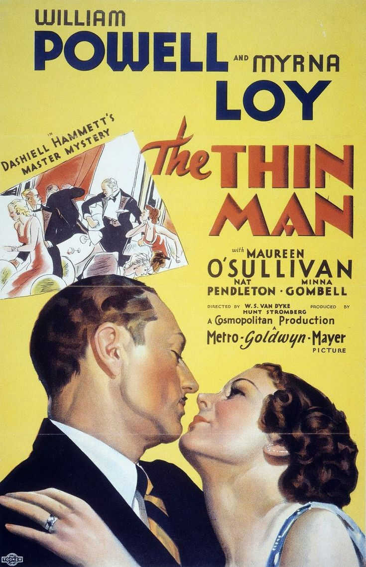 It's sad when a conversation is started about old movies and I bring up The Thin Man and NO ONE knows what I'm talking about! They don't even know who William Powell or Myrna Loy are!
