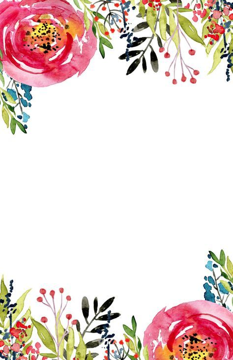 Floral Invitation Template free printable. Free invitation template for a birthday party, wedding, bridal shower, baby shower. Flower invitation templates.