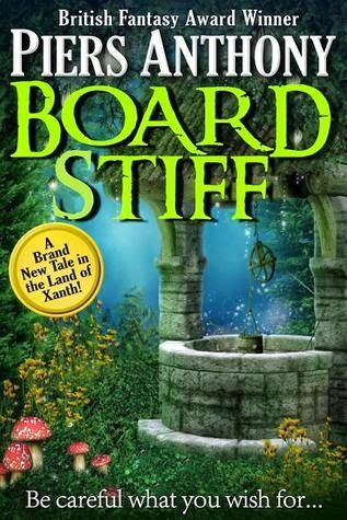 (24) (Board Stiff (Xanth #38) by Piers Anthony |)  Humorous Fantasy | Book Review | http://oldbatsbelfry.blogspot.com | Xanth is an offbeat world and I don't just mean it is off of the beaten path. If you were to look at it on a map, you might notice a certain similarity to Florida, but this is an alternate world. A magical world. A world filled with every fairytale creature you can imagine and a few you can't. And the best part? It is a world where the magic is comprised of puns.