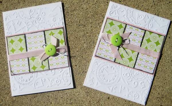 Card: Embossed and blocked any occasion card