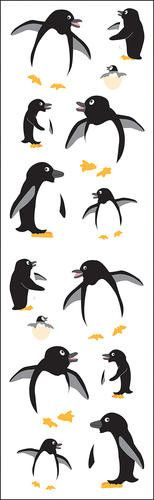 Our fun, playful penguin sticker sheet features fourteen penguins in various poses and sizes, including a pair of adorable penguin chicks just hatching. These stickers are perfect for any and every oc