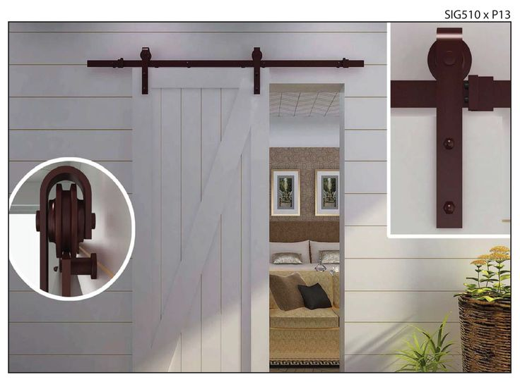 pretty wall mount sliding barn style doors hardware with white wooden wall exposed as modern log