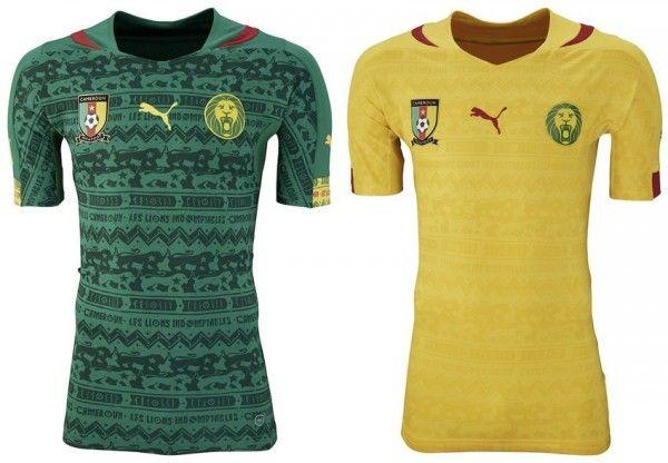 Conozca las camisetas del Mundial Brasil 2014     --- CAMERÚN