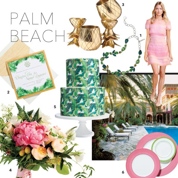 A Punchy, Preppy Wedding Color Palette Inspired by Palm Beach | Brides.com