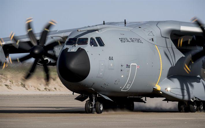 Descargar fondos de pantalla Aviones de transporte militar Airbus A400M, el avión de carga, Airbus Military