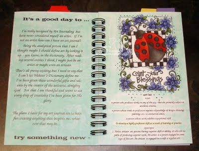Copic Art Journal  http://www.jans-gonestampin.blogspot.com/2011/09/art-journal-link-party-define-art.html