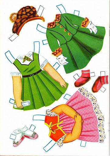 Sally the City Girl Doll Book, 1963 Lowe #1854 (5 of 8) |   bonecas de papel, paper doll, muñecas de papel