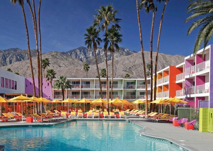 The Saguaro Palm Springs A Colorful Boutique Hotel In California