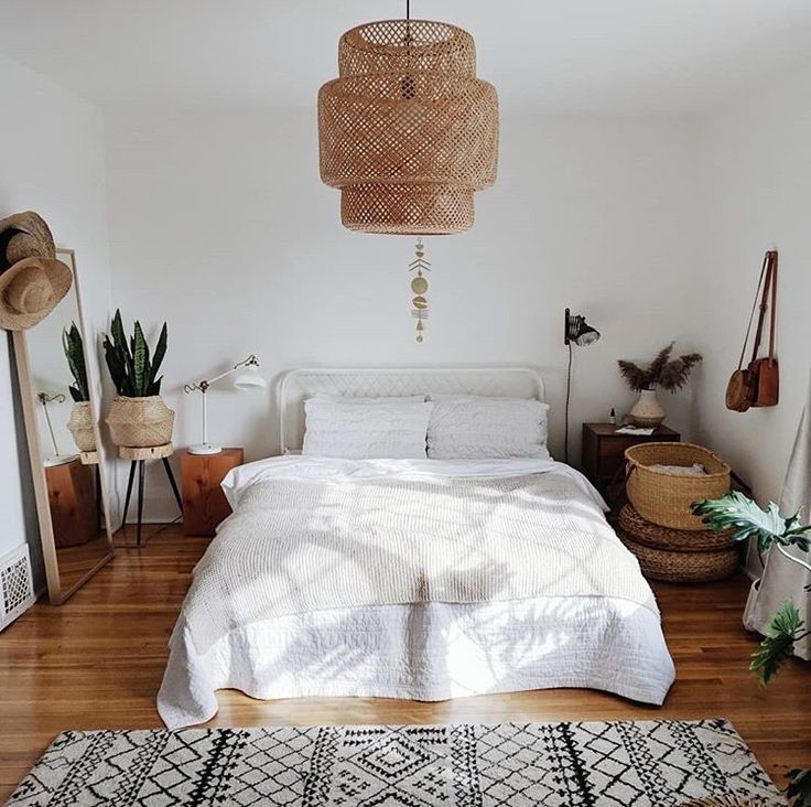 love the low bed, the baskets. Maybe a few more pl…