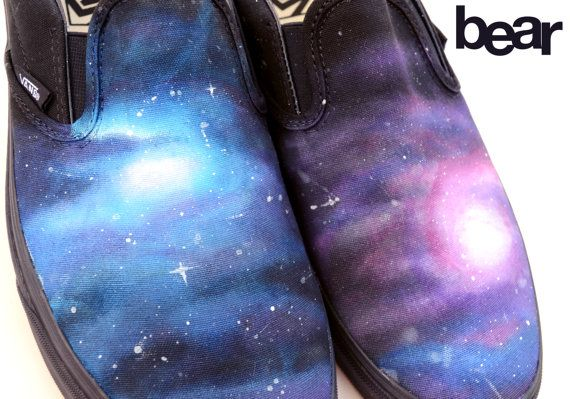 Custom Vans Shoes  Galaxy Painting by BearGallery on Etsy