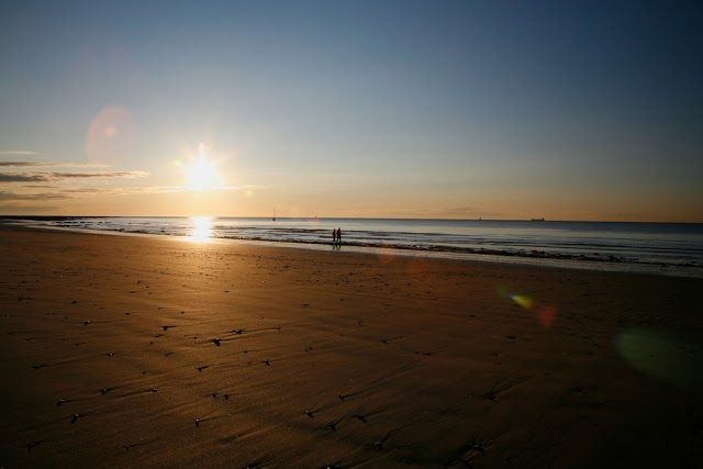 Beautiful beach sunset.   Whitecliff Bay Holiday Park   https://www.campsitechatter.com/campsites/pinboard/Woolacombe-Sands-Holiday-Park/5779562952439790689