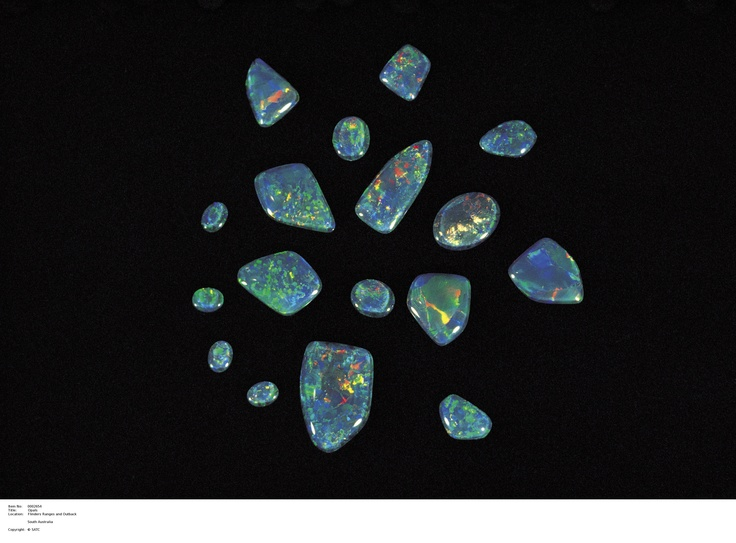 Opals from Coober Pedy.  Image Source: SA Tourism Commission.
