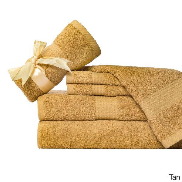 Supersoft 6-piece 100-percent Cotton Bath Towel Set