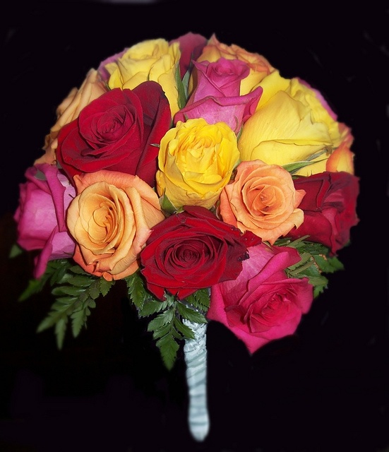 Multi color rose bouquet to represent friendship love for Flowers that represent love