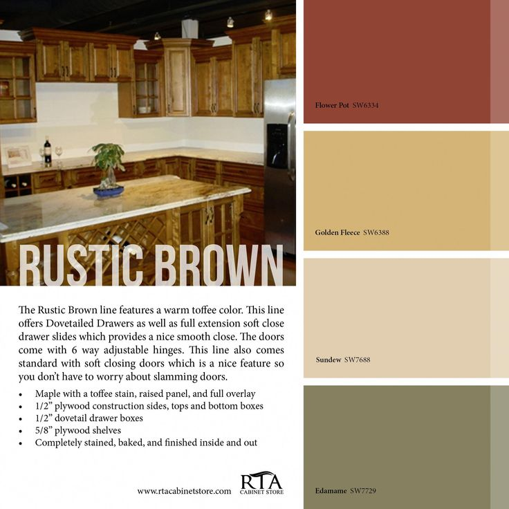 Kitchen Cabinet Lining Ideas: Color Palette To Go With Our Rustic Brown Kitchen Cabinet
